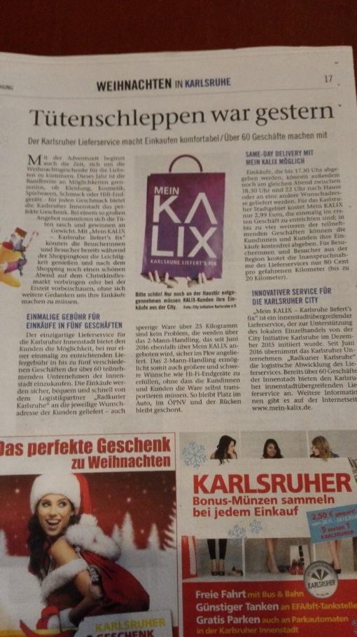 Lieferservice für Karlsruhe
